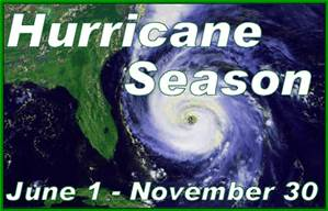Hurrican Season warning Sign