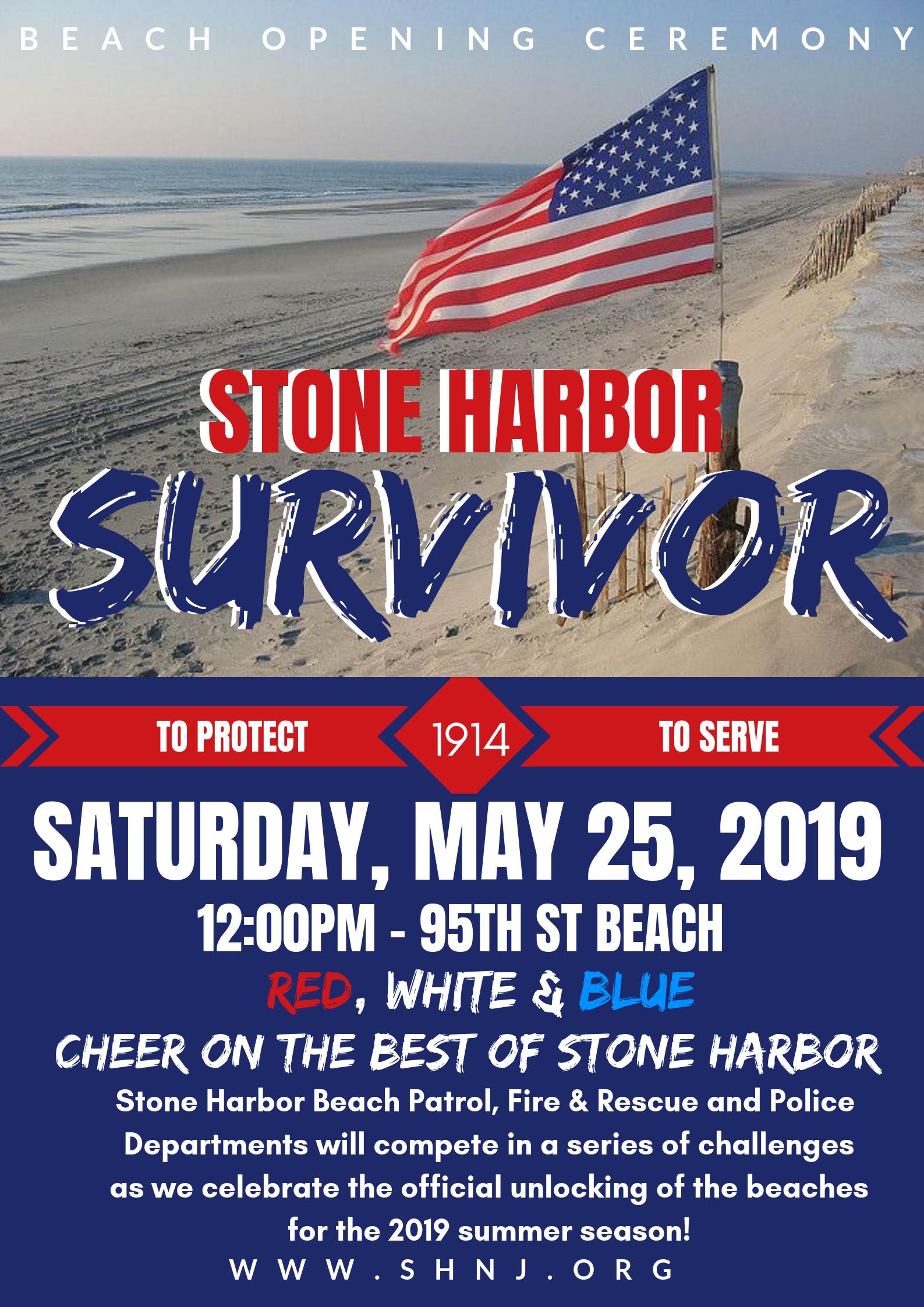 Survivor Stone Harbor: Beach Opening Ceremony