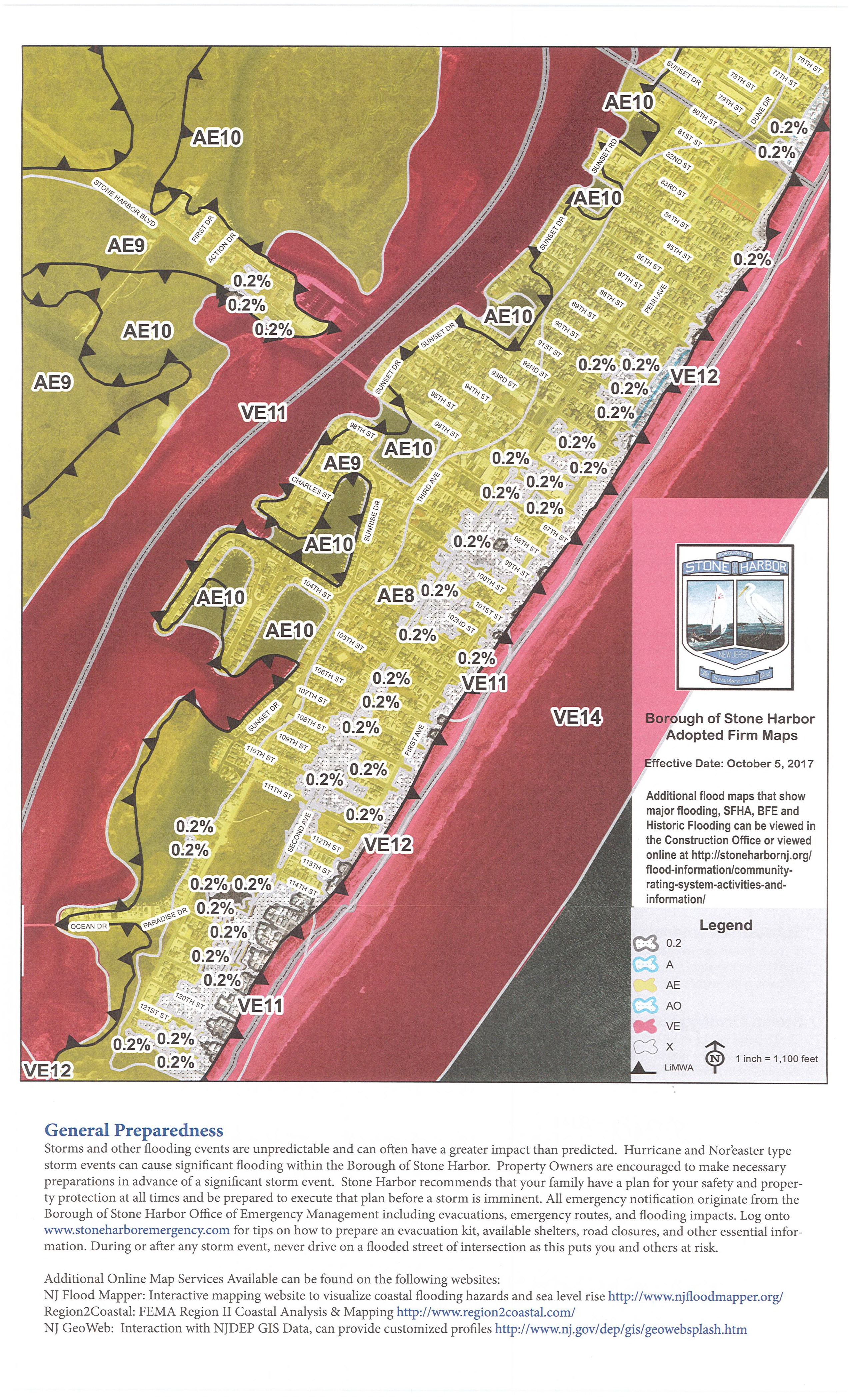 Cape May County Preliminary Work Map (Panel 0242) ~ Borough of Stone Cape May Hotel Map on