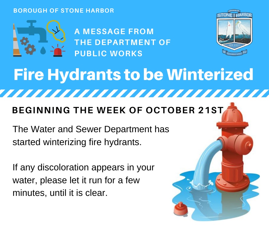 Fire Hydrants to be Winterized