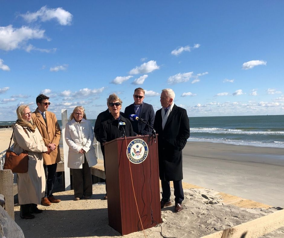 Congressman Van Drew Joins Local Officials on Victory Regarding Beach Nourishment Home